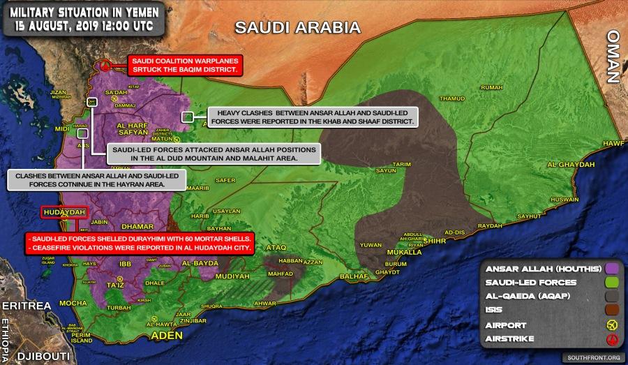 YEMEN 2019 15august_Yemen_war_map