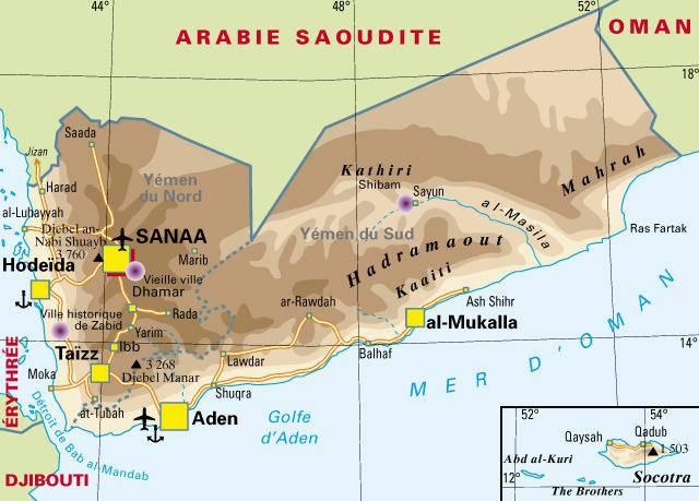 YEMEN carte-politique-yemen