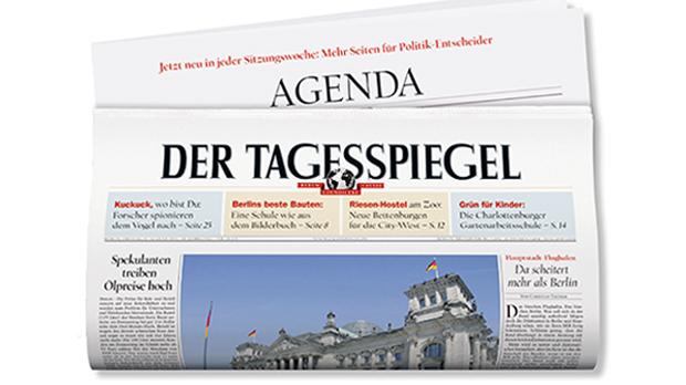 ALLEMAGNE Der Tagesspiegel 140210_TS_Titel_620x348
