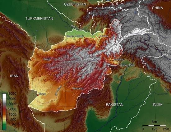 carte-relief-afghanistan