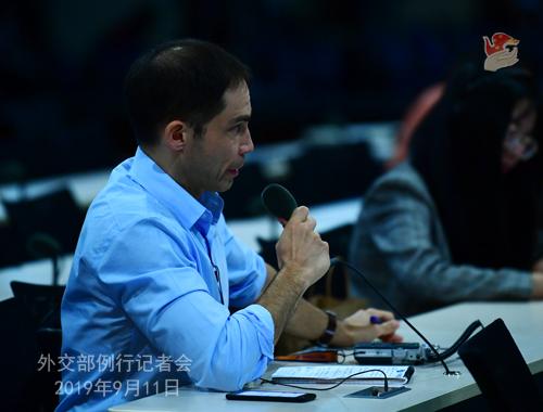 chine 5 Conférence de presse du 11 septembre 2019 tenue par la porte-parole du Ministère des Affaires étrangères Hua Chunying W020190911744113965095