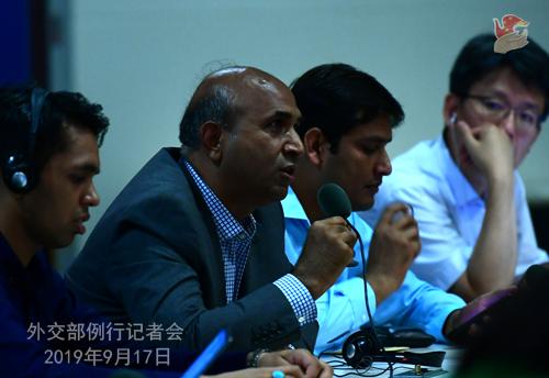 CHINE 7 Conférence de presse du 17 septembre 2019 tenue par la Porte-parole du Ministère des Affaires étrangères Hua Chunying W020190917798652025225