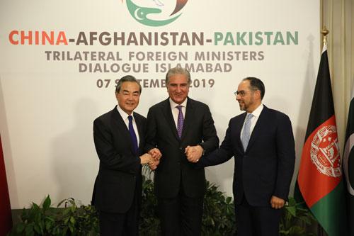 CHINE Le troisième dialogue des Ministres des Affaires étrangères Chine-Afghanistan-Pakistan s'est tenu le 7 septembre 2019 à Islamabad W020190911556149839844