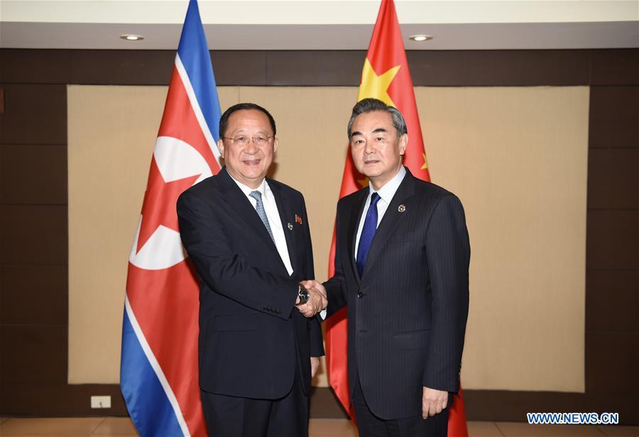 Corée (RPDC), Ri Yong Ho ET CHINE WANG YI 136503691_15020616424411n