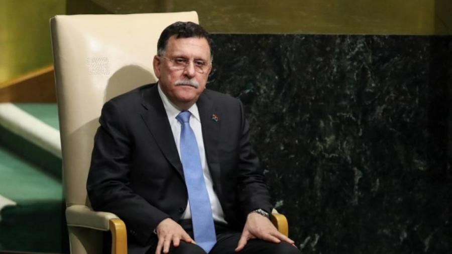 Fayez el-Sarraj, le chef du gouvernement d'union nationale en Libye, le 20 septembre 2017 à New York. Drew AngereAFP 063_850321360_0