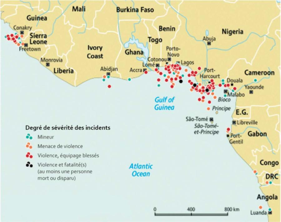 Golfe de Guinée.Figure-2.-Incidents-criminels-le-long-de-la-cote-ouest-de-lAfrique-2006-2013