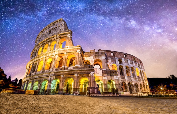 Colosseo roma coliseum colosseum rome no people exterior night milkyway