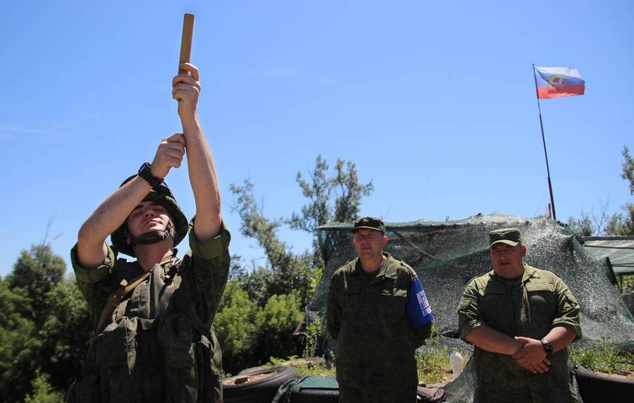 Disengagement of forces at Stanitsa Luganskaya in east Ukraine