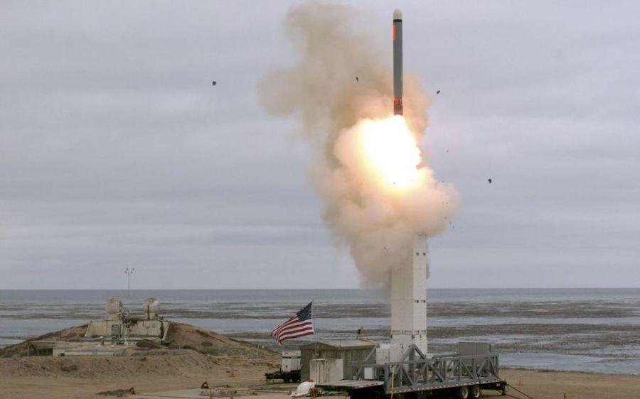 USA 20.08.2019 Le missile tiré dimanche de l'île San Nicolas, en Californie. AFP. Scott HOWE.DoDUMF7CZBKZZL3ZPHEEPRVKS7A54