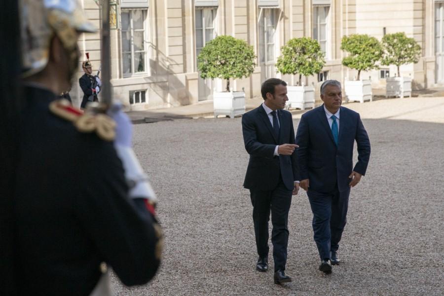 Emmanuel Macron et le premier ministre hongrois Viktor Orban à l'Élysée, ce vendredi 11 octobre. AFP06f5af7a9f25fbb60c5b8a6a1e3600925d308f5a