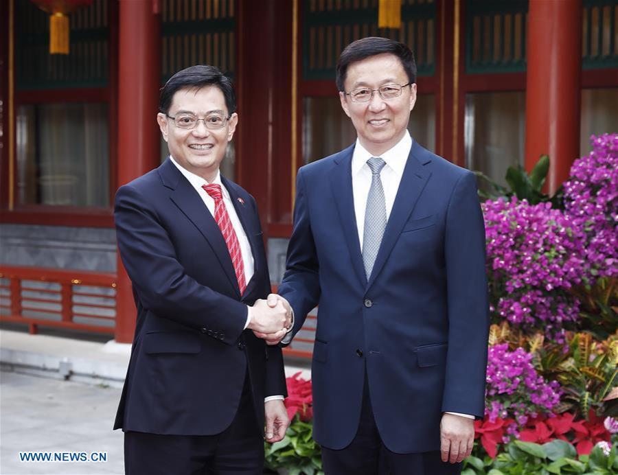 Han Zheng & Heng Swee Keat, vice-Premier ministre et ministre des Finances de Singapour,138083088_15586003068371n