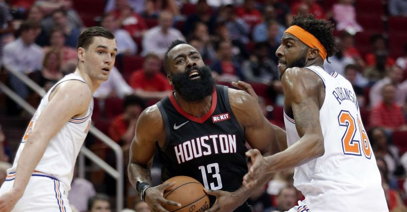 James Harden, joueur de la franchise de basket de Houston, les Rockets.houston