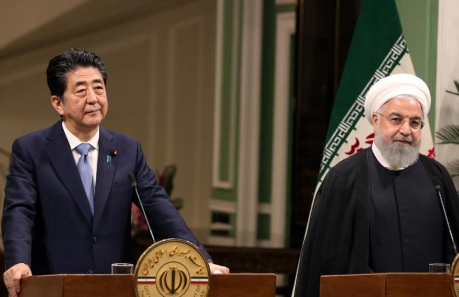 JAPON IRAN Premier ministre japonais Shinzo Abe s'est rendu à Téhéranrouhani_abe_2019_afp_0