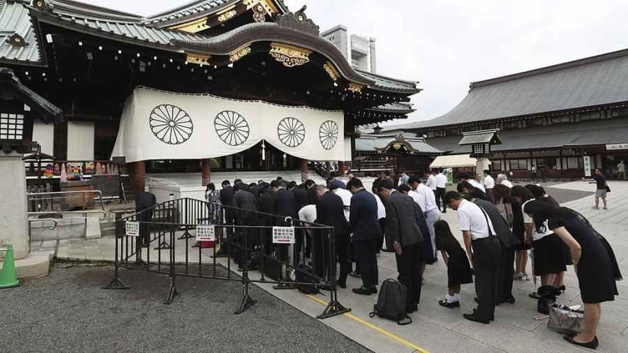 le sanctuaire Yasukuni, où sont honorés 14 criminels de guerre de classe A 5bf80b55-0a2d-4da7-af39-4c883af6087d