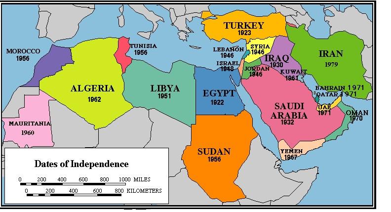Moyen-orient-date-d-indépendance-des-pays-Moyen-Orient-Turquie-Syrie-Liban-Israel-Jordanie-Irak-Iran-Koweit-Barein-Qatar-Emirat-Arabe-Unis-Yemen-Oman-Afganistan