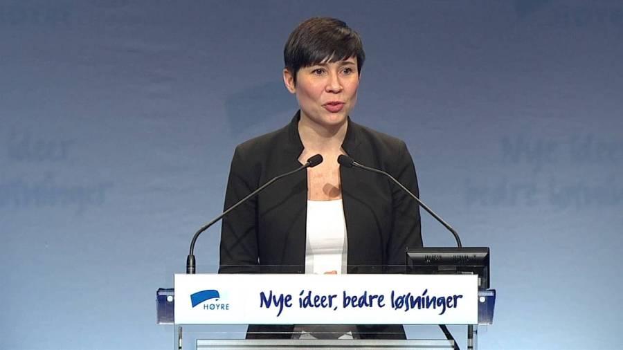 NORVEGE Ine Marie Eriksen Søreide. maxresdefault