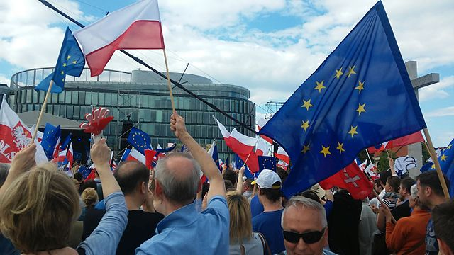 pologne KOD_demonstration_Warsaw_May_7_2016_21-wikipedia