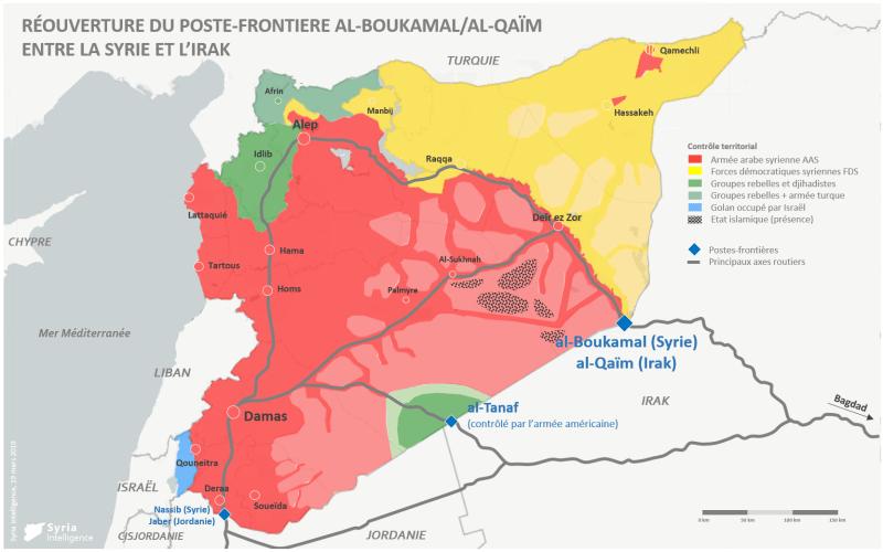 Syria-Intelligence-20190319-Réouverture-du-poste-frontière-al-Qaïm-al-Boukamal-entre-la-Syrie-et-lIrak