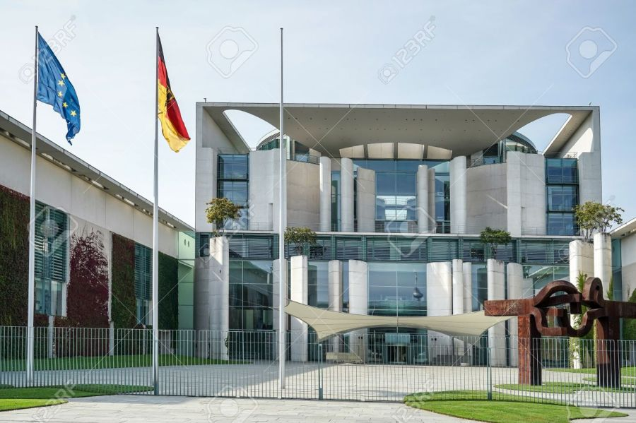 The Federal Chancellery building offical residence of the German