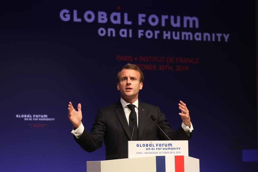 macron-forum-ai-for-humanity-afp-pas-reutiliser