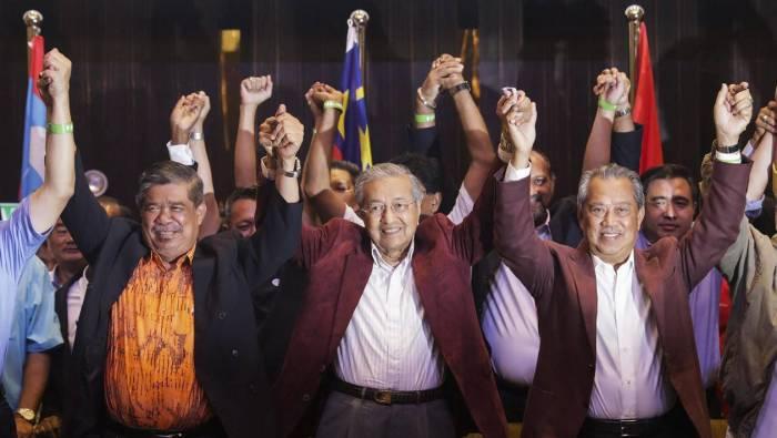 MALAISIE L'alliance d'opposition malaise conduite par l'ancien dirigeant Mahathir Mohamad, 92 ans, a remporté les élections législatives 1525929365