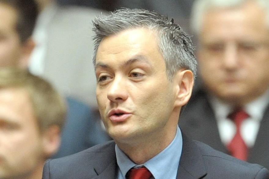 pologne Robert Biedroń, chef du parti d'extrême gauche Wiosna 7775772683_robert-biedron-le-8-novembre-2011-a-varsovie-archives