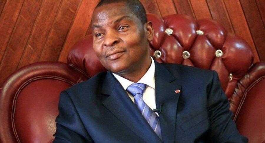 CENTRAFIQUE le président centrafricain, Archange Touadéra, 1027269171