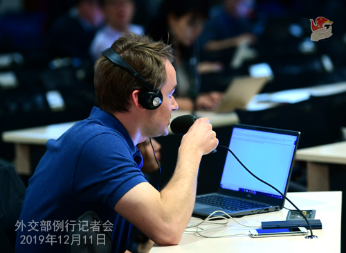 CHINE 14 Conférence de presse du 11 décembre 2019 W020191216361311221153