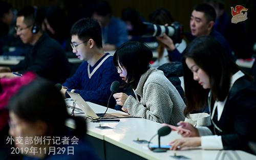 CHINE 4 Conférence de presse du 29 novembre 2019 W020191204510929634296