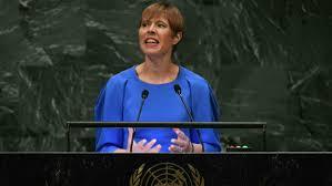Estonie Présidente Kersti Kaljulaid depuis 2016 ,images