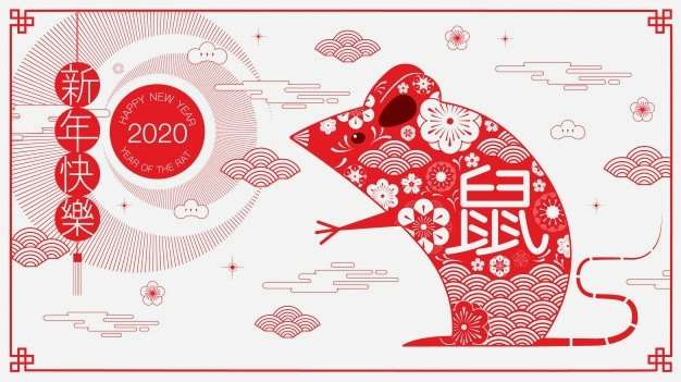 Happy new year 2020 chinese new year the year of the rat for chinese new year greetings 2020