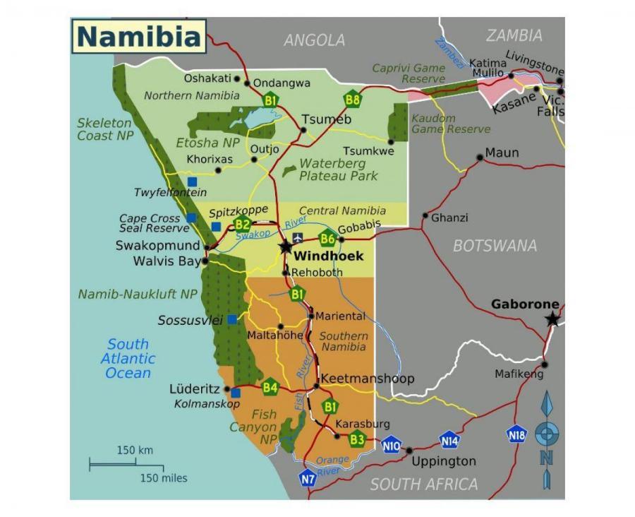 le-nord-de-la-namibie-carte
