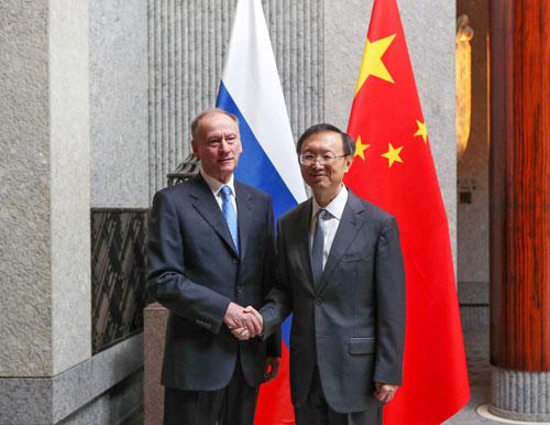 RUUSIE CHINE Patrushev est actuellement en Chine pour coprésider, avec le directeur Yang Jiechi, W020191204629493611558
