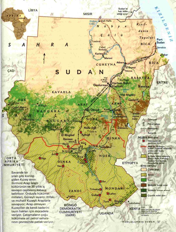 soedan-geografische-kaart