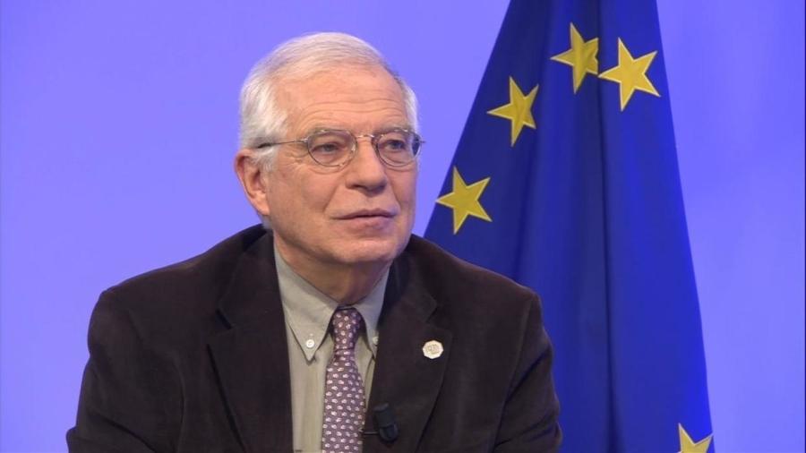 UE Josep Borrell, CATALAN vice-président de la Commission européenne et haut représentant de l'Union pour les affaires étrangères et la politique de sécurité