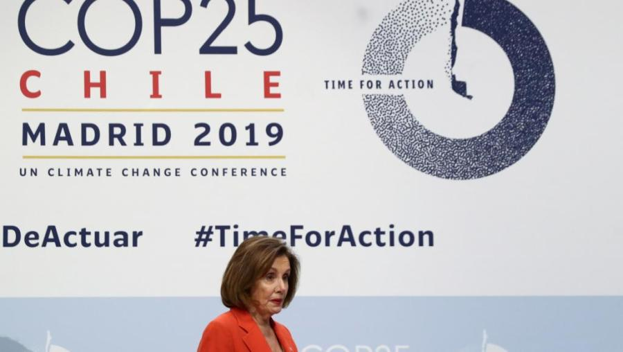 USA Nancy Pelosi, a la COP 25 à Madrid,2019-12-02t140702z_1104115416_rc22nd9ojbna_rtrmadp_3_climate-change-accord-pelosi_0