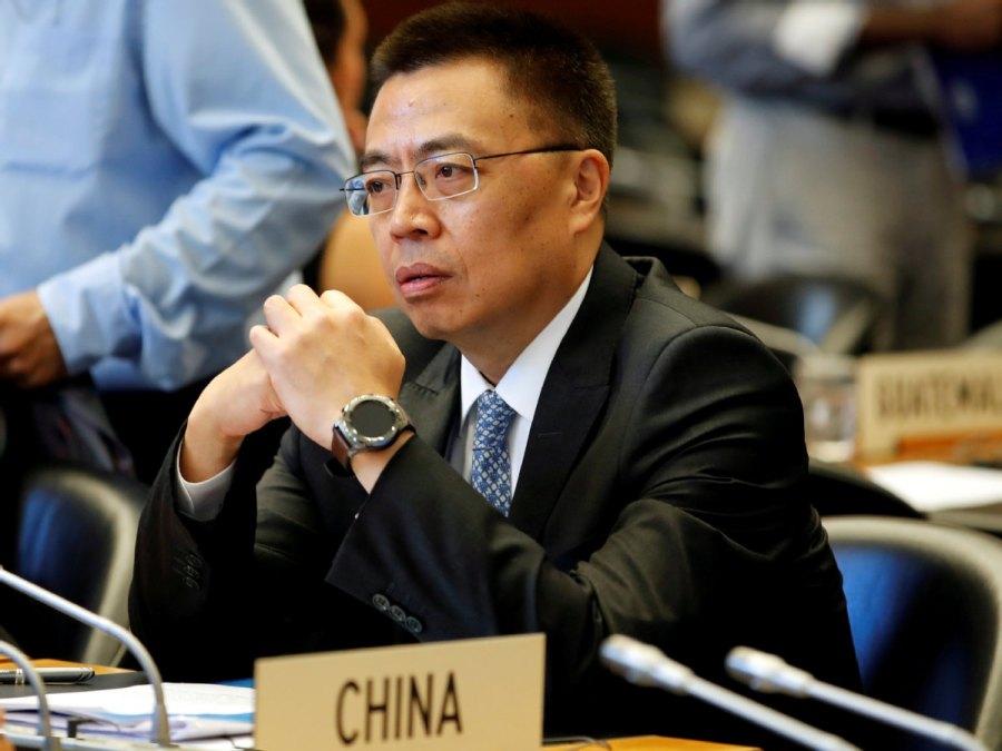 Zhang Xiangchen, ambassadeur de Chine auprès de l'Organisation mondiale du commerce.515dc89d-fc24-4765-bfe6-0f805180a13a