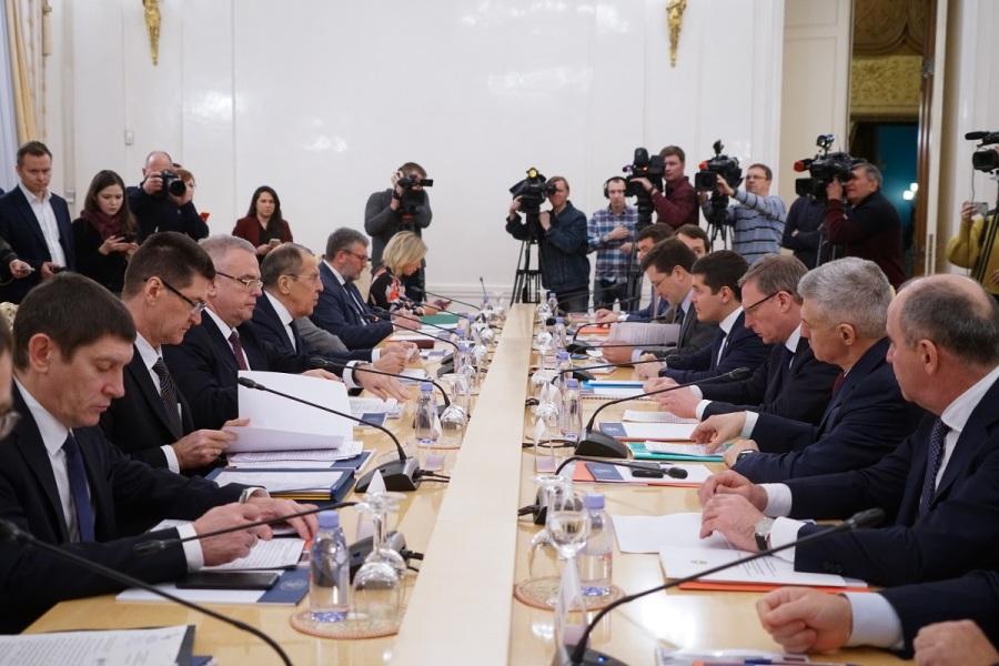 34e réunion du Conseil des chefs des sujets de la Fédération de Russie auprès du Ministère russe des Affaires étrangères, Moscou, 21 janvier 2020 Главы субъектов