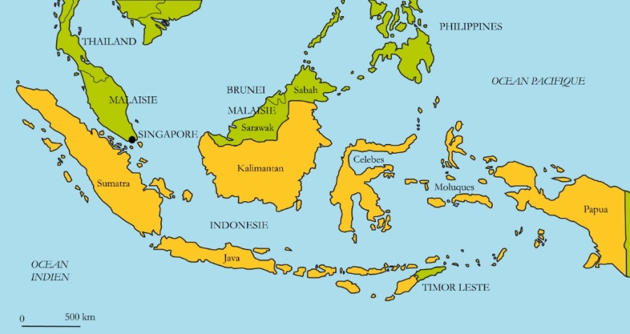 Carte-Indonésie