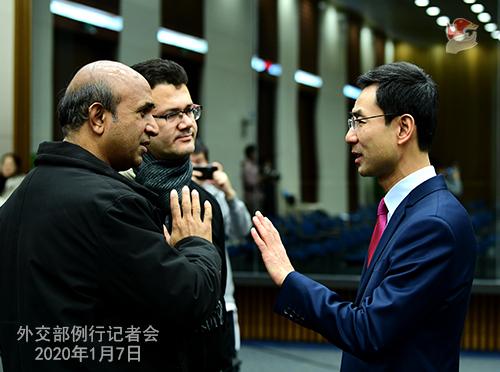 CHINE 15 Conférence de presse du 7 janvier 2020 W020200110364261166228