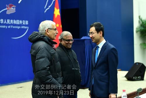 CHINE 2 Conférence de presse du 23 décembre 2019 W020191226350994345471