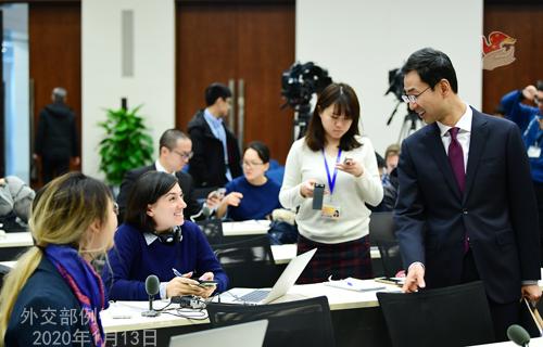 CHINE 4 Conférence de presse du 13 janvier 2020 tenue par le porte-parole Geng Shuang W020200116400691371798