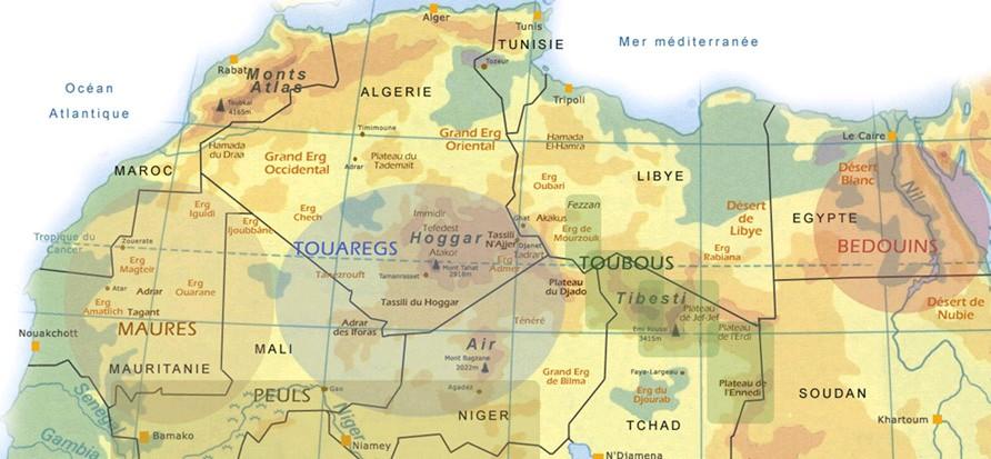 Etude de cas N°4 - le Sahara par les cartes - un espace riche, parcouru et convoité peuples_sahara
