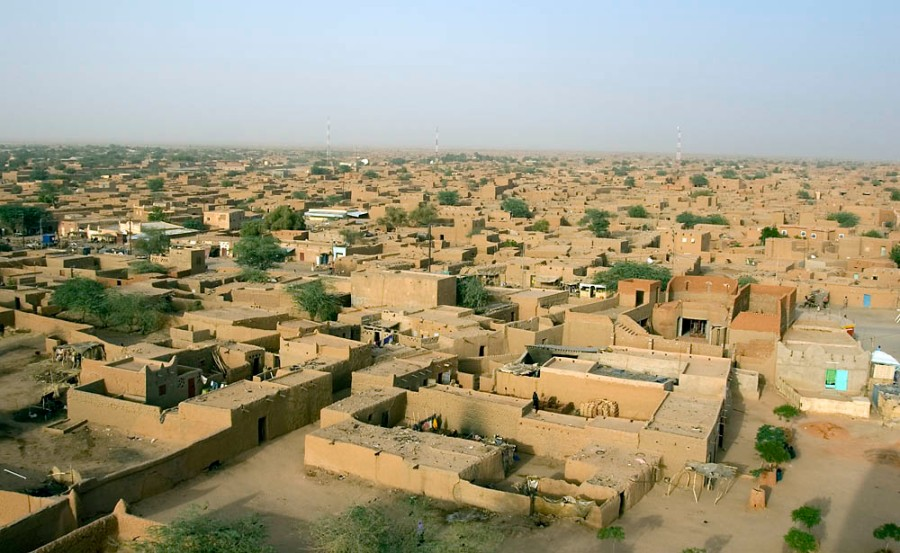 Agadez from the Grand Mosque Tower