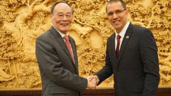le Vice-Président Wang Qishan & Jorge Arreaza arreaza_china_relaciones_bilaterales_minci_jpeg_1718483347.jpeg_1718483346