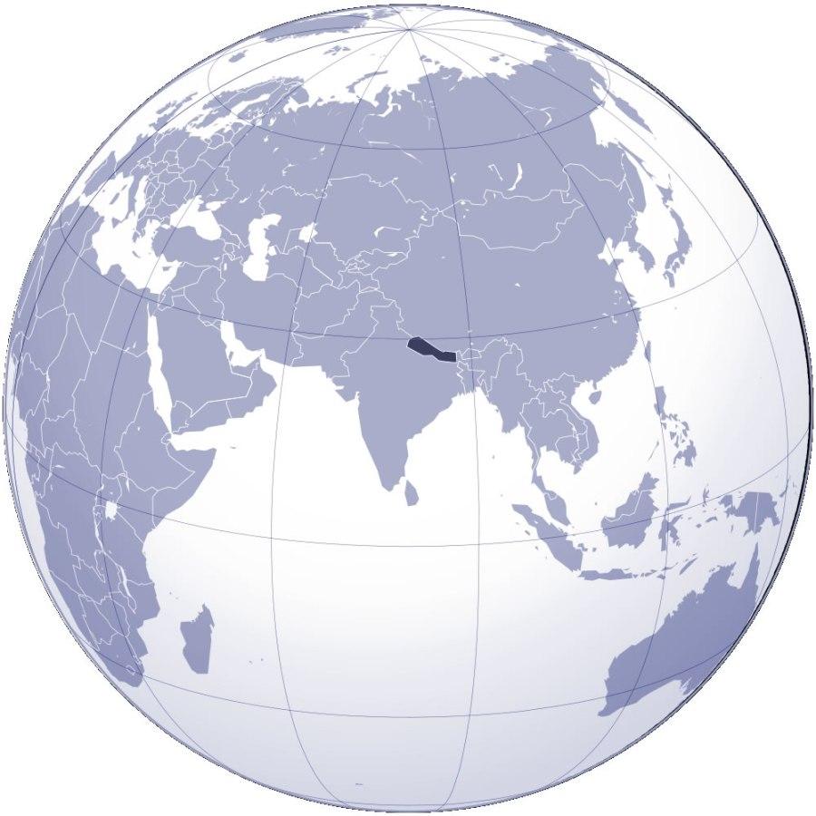 localiser-nepal-sur-carte-du-monde