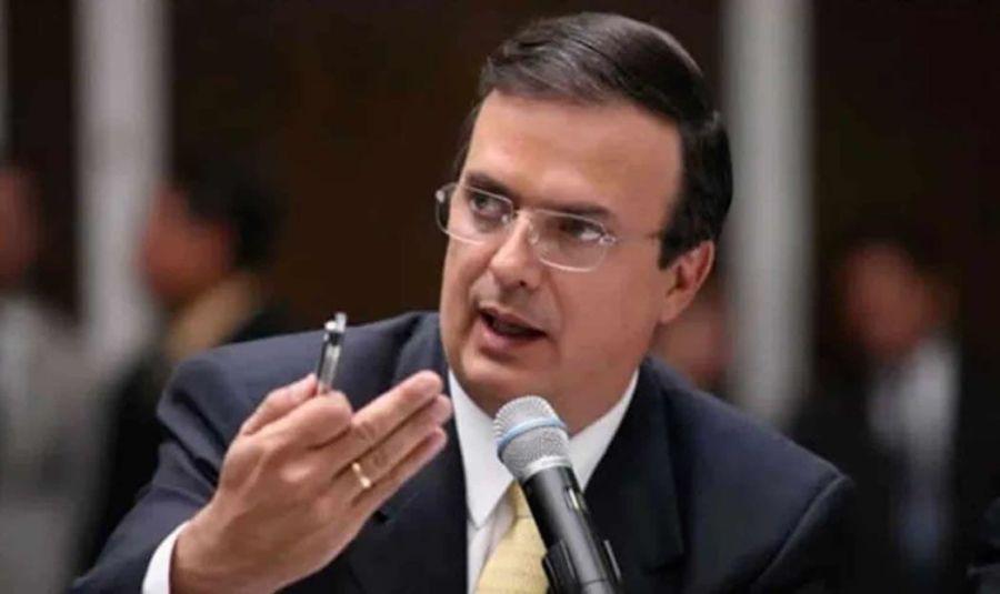 MEXIQUE le Ministre mexicain des Affaires étrangères Marcelo Luis Ebrard Casaubon 713945