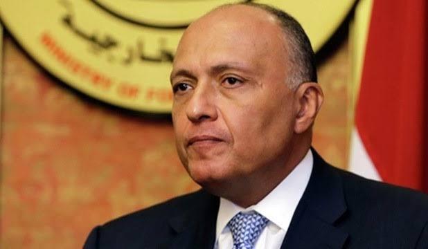 Ministre égyptien des Affaires étrangères Sameh Hassan Shoukry sameh-choukri