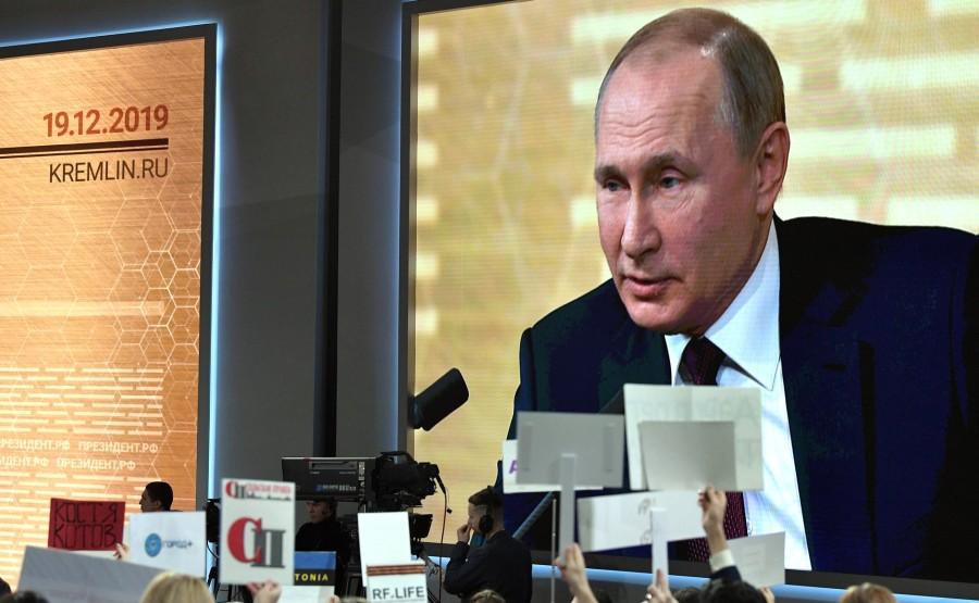 RUSSIE 36 SUR 50 CONFERENCE ANNUELLE DE V.POUTINE 2019 EDITE 2020 g6GnicQyxAf84bUIDee3wgR3IOR7FJBS