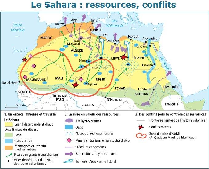 SAHARA N° 14 UN ESPACE DU FLUX ET D'ECHANGES - LE SAHARA, UNE INTERFACE AFRICAINE Le-Sahara-ressources-conflits
